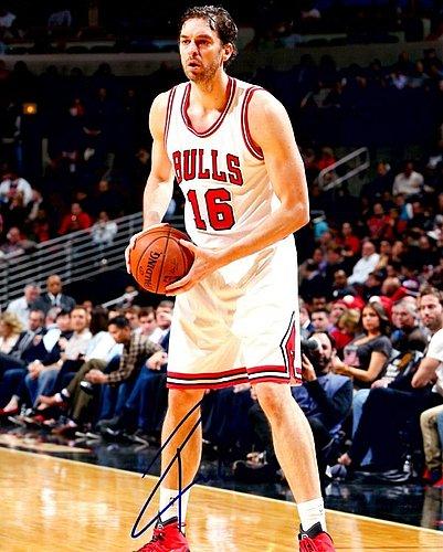 Autographed Signed Pau Gasol 8X10 Chicago Bulls Photo
