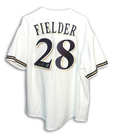 Autographed Signed Prince Fielder Milwaukee Brewers White Majestic Jersey - COA Included