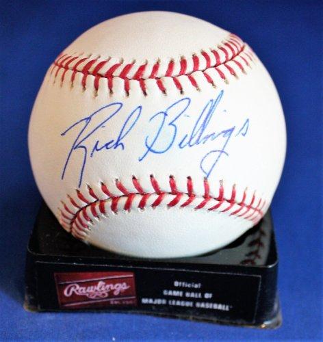 Autographed Signed Rich Billings Rawlings Official Major League Baseball COA