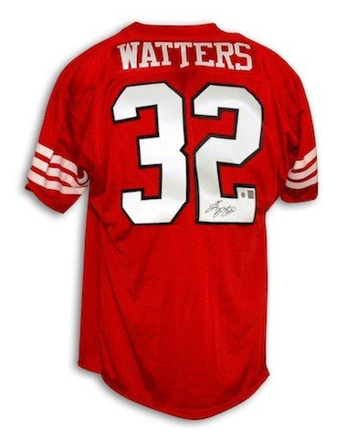 71b7c6a0f5d Autographed Signed Ricky Watters San Francisco 49ers Red Throwback Jersey -  Certified Authentic