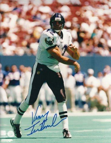 Autographed Signed VINNY TESTAVERDE 8X10 Baltimore Ravens Photo