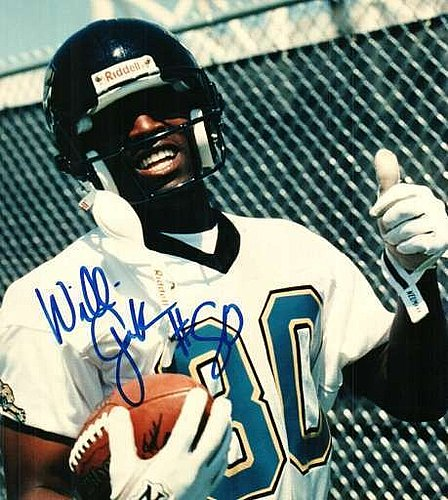 Autographed Signed Willie Gault Jacksonville Jaguars 8x10 Photo. - Certified Authentic