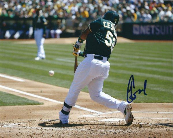 online retailer a2a25 a9799 Yoenis Cespedes Autographed Memorabilia   Signed Photo ...
