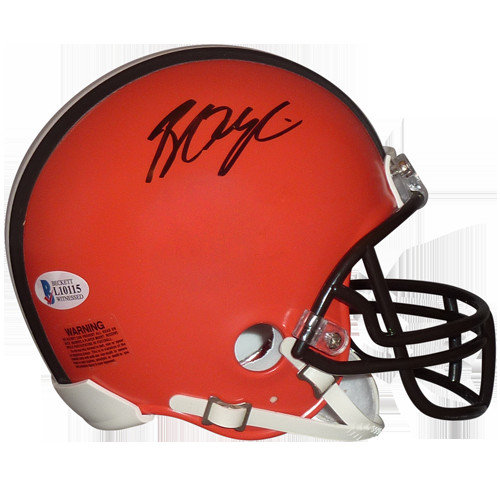 4bce2b0b4da Baker Mayfield Autographed Signed Auto Cleveland Browns Mini Helmet    Beckett - Certified Authentic