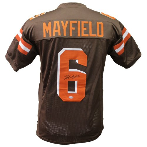 09a540f5d Baker Mayfield Autographed Signed Cleveland Browns Brown Jersey - Beckett  Certified Authentic