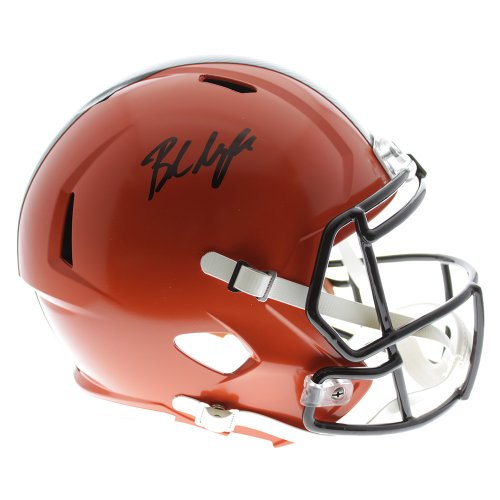 Baker Mayfield Autographed Signed Cleveland Browns Riddell Speed Replica  Full Size Helmet- Beckett Certified Authentic e75a6e4ee
