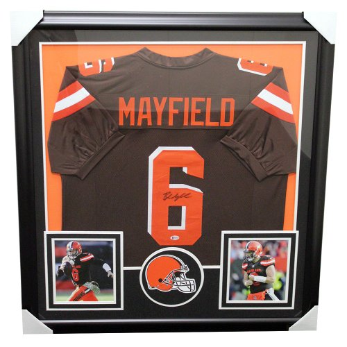 3050f906c Baker Mayfield Cleveland Browns Framed Autographed Signed Home Jersey -  Beckett Certified Authentic