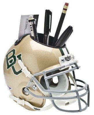 Baylor Bears Gold NCAA Football Schutt Mini Helmet Desk Caddy