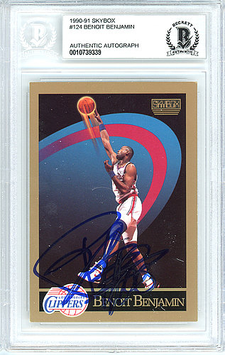 Benoit Benjamin Autographed Signed 1990-91 Skybox Card Autographed Signed #124 Los Angeles Clippers - Beckett Authentic