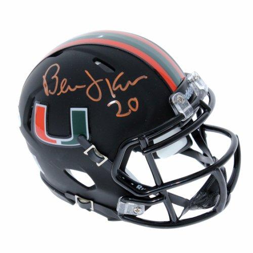 f93c51436 Bernie Kosar Miami Hurricanes Autographed Signed Riddell Speed Black Mini  Helmet - PSA/DNA Certified