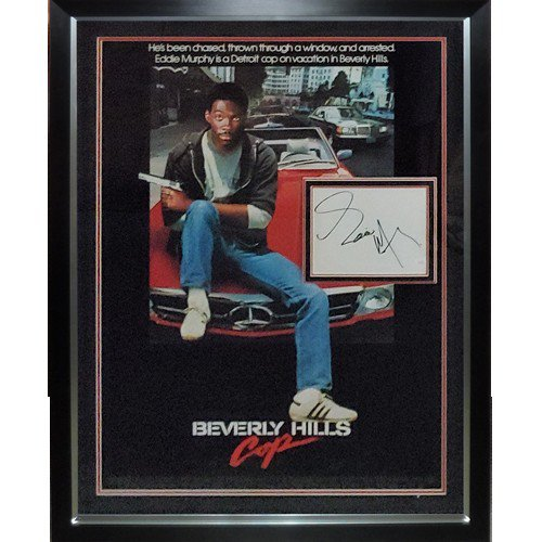 Beverly Hills Cop Full-Size Movie Poster Deluxe Framed with Eddie Murphy Autographed Signed Autograph - JSA