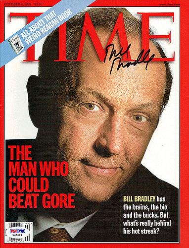 Bill Bradley Autographed Signed Time Magazine - PSA/DNA Certified