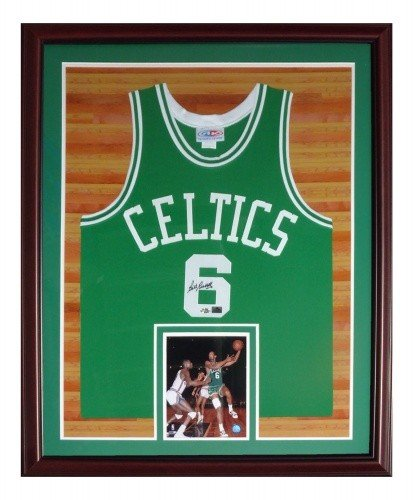 e619385a89c Bill Russell Autographed Signed Auto Boston Celtics Green #6 Deluxe Framed  Jersey - Certified Authentic
