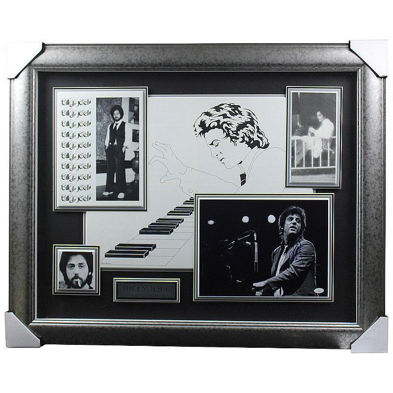 Billy Joel Autographed Signed Piano Framed Photo Shadowbox - JSA Authentic