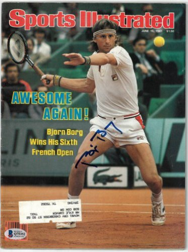 Bjorn Borg Autographed Signed Sports Illustrated Full Magazine 6/15/1981- Beckett/BAS #Q75352 (French Open)