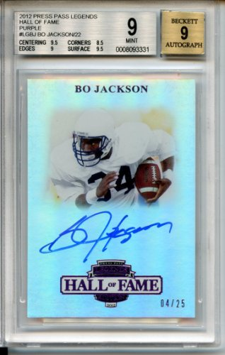 b36a6786dd5 Bo Jackson 2012 Press Pass Legends Auburn Tigers Autographed Signed Trading  Card - Certified Authentic