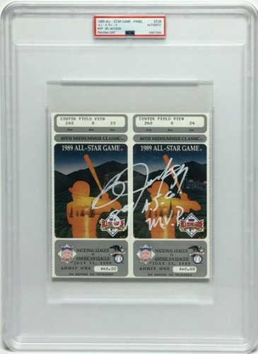 Bo Jackson Autographed Signed Sequential/Un-Torn 1989 All-Star Ticket Stubs 89 Asg MVP PSA