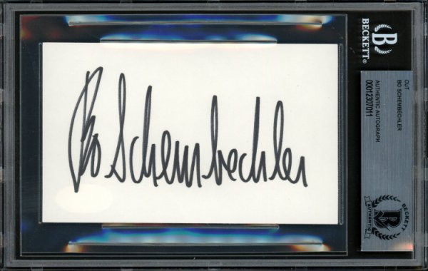 Bo Schembechler Autographed Signed 3x5 Index Card Michigan Wolverines Beckett BAS