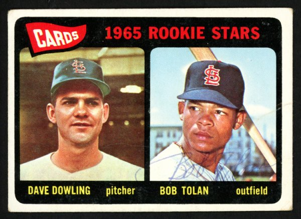 Bob Bobby Tolan Autographed Signed 1965 Topps Rookie Card #116 St. Louis Cardinals - Certified Authentic