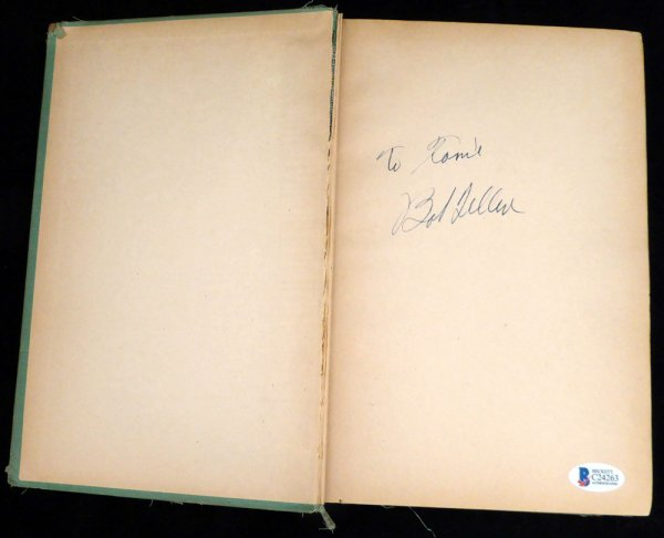 Bob Feller Autographed Signed Book Cleveland Indians To Tamie - Beckett BAS Authentic