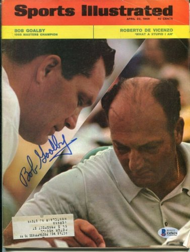 Bob Goalby Autographed Signed Sports Illustrated 4/22/1968 Autographed Masters Beckett