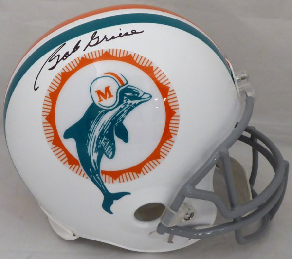 Bob Griese Autographed Signed Miami Dolphins Full Size Replica Helmet Beckett BAS