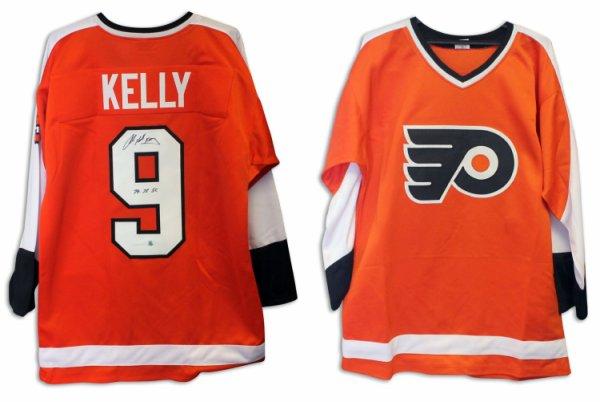 Bob Kelly Philadelphia Flyers Autographed Signed Orange Jersey Inscribed Hound & 74-75 SC