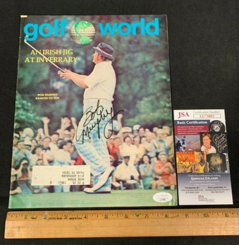 Bob Murphy Autographed Signed Hand Autographed 1975 Golf World Magazine JSA/COA