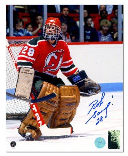 9eb805f4a Bob Sauve New Jersey Devils Autographed Signed Goalie 8x10 Photo -  Certified Authentic