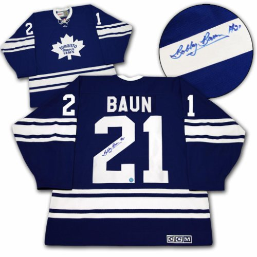 separation shoes 51c74 fb629 Bobby Baun Toronto Maple Leafs Autographed Signed 1967 ...