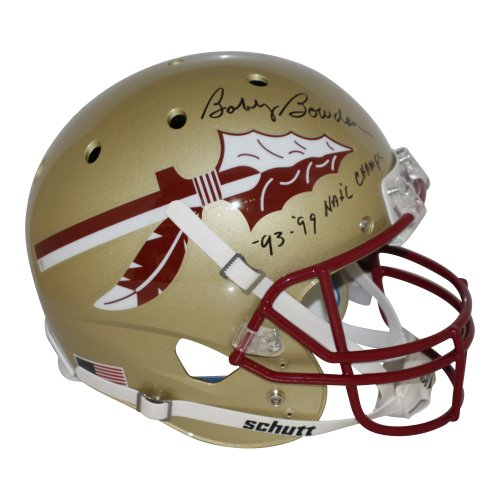 Bobby Bowden Autographed Signed Florida State Seminoles Gold Schutt Replica Helmet 99-99 Champs- PSA/DNA Authentic