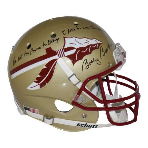 Bobby Bowden Autographed Signed Florida State Seminoles Schutt Replica Full Size Helmet Quote- PSA/DNA Authentic