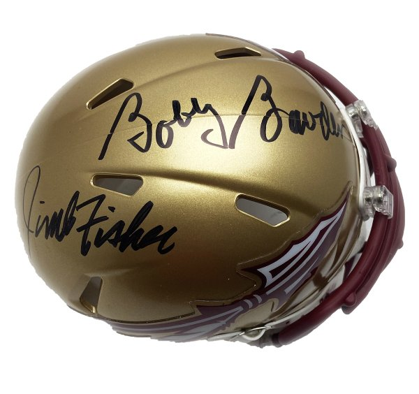 Bobby Bowden & Jimbo Fisher Florida State Seminoles Autographed Signed Riddell Speed Mini Helmet - PSA/DNA Authentic
