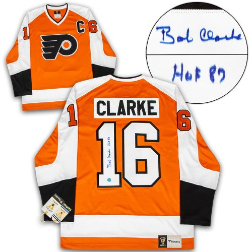 efa897e78 Bobby Clarke Philadelphia Flyers Autographed Signed Memorabilia Fanatics  Vintage Hockey Jersey - Certified Authentic