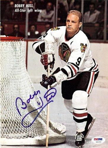 Bobby Hull Autographed Signed Magazine Cover Blackhawks - PSA/DNA Certified