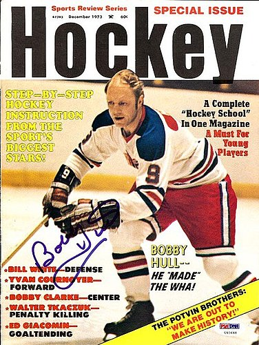 Bobby Hull Autographed Signed Magazine Cover Jets - PSA/DNA Certified