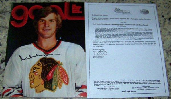 Bobby Orr Autographed Signed Beautiful! Autographed 1976 Goal Photo Magazine JSA Auction Loa