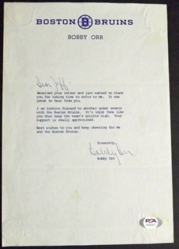 Bobby Orr Autographed Signed Extremely 100% Authentic! Hand Autographed Letter PSA COA!
