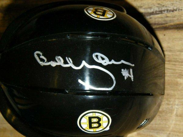 Bobby Orr Autographed Signed JSA Beautiful Boston Bruins Mini Hockey Helmet Inscribed #4