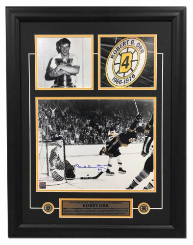 Bobby Orr Boston Bruins Autographed Signed 1970 Stanley Cup Goal Collage 21x27 Frame
