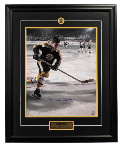 Bobby Orr Boston Bruins Autographed Signed Hockey Rush 26x32 Frame