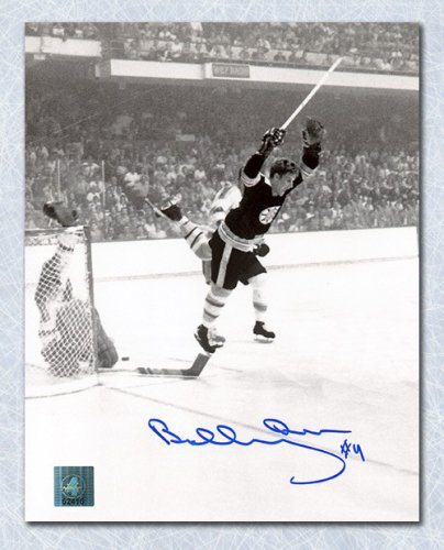 Bobby Orr Boston Bruins Autographed Signed Vertical Winning Goal 8x10 Photo