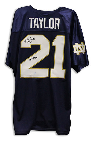 timeless design a7d1d 1f32f Notre Dame Fighting Irish Autographed Jerseys | Signed Jerseys