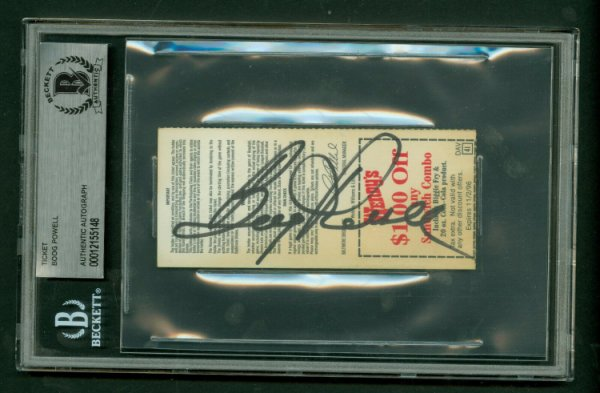 Boog Powell Autographed Signed On Back 1996 Orioles Ticket Stub Beckett Authentic