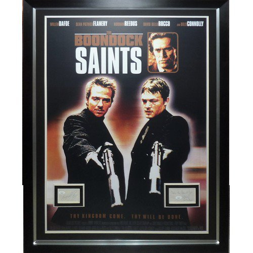 Boondock Saints Full-Size Movie Poster Deluxe Framed with Norman Reedus Autographed Signed And Sean Patrick Flanery Autographs - JSA