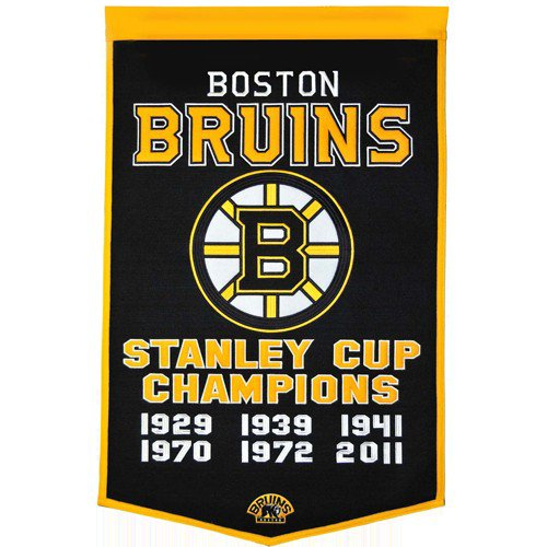 Boston Bruins Stanley Cup Championship Dynasty Banner - with hanging rod