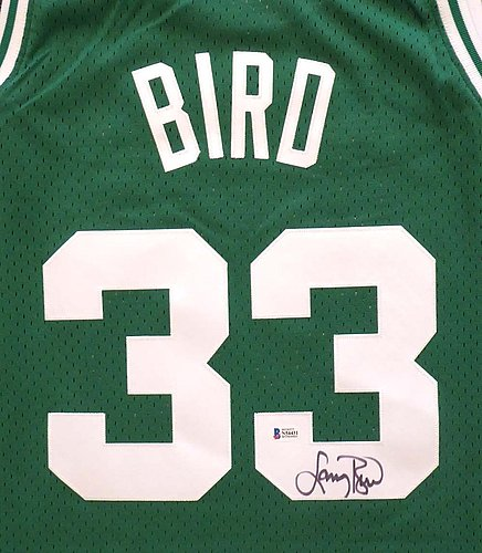 d3553c2b Boston Celtics Larry Bird Autographed Signed Memorabilia Green Mitchell &  Ness Swingman Jersey Size XL - Beckett Authentic KEN