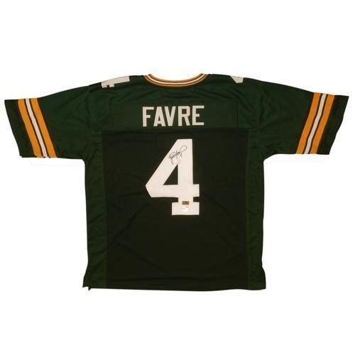 aa85807fc Brett Favre Autographed Signed Auto Green Bay Packers Green  4 Jersey    Favre Holo -