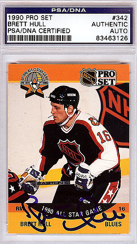Brett Hull Autographed Signed 1990 Pro Set Card #342 - PSA/DNA Certified
