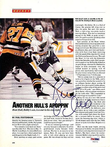 583e73cf2 Brett Hull Autographed Signed Magazine Page Photo Blues - PSA/DNA Certified
